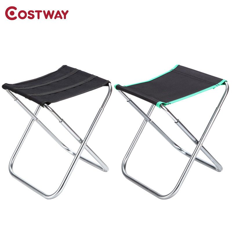 COSTWAY Ultra Light Outdoor Aluminum Stool Camping Folding Chair Oxford Cloth Fishing Chair Portable Beach Chair W0266 costway outdoor aluminum alloy backrest stool camping folding chair oxford cloth fishing chair portable beach chair w0263
