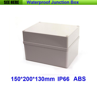 Free Shipping 1 Piece Small Type IP66 ABS Grey Waterproof Plastic Box Electronic Enclosures 150 200