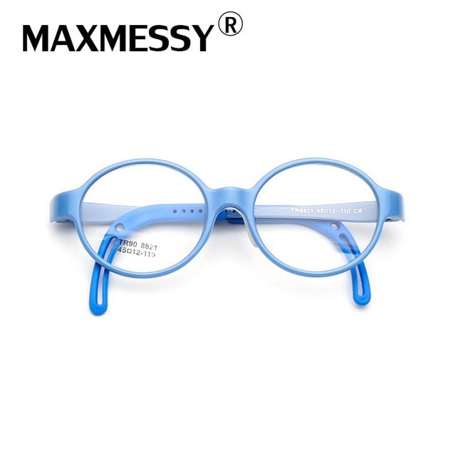 54c4440327 MAXMESSY TR90 kids Eyeglasses frame cute brand clear optical myopia  designer baby girl glasses frame MTR8821