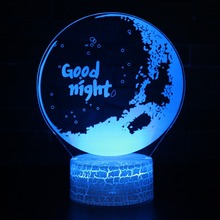 3D Visual LED 7 Colors Night Light Lamp Moon Goodnight Acrylic Hologram Illusion Desk Deco For Kids Sleeping Gift