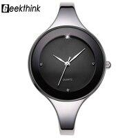 GEEKTHINK Luxury Brand Fashion Quartz Watch Women Ladies Stainless Steel Bracelet Watches Casual Clock Female Dress
