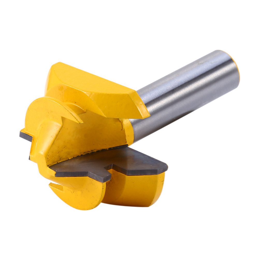 Total 60mm Length Router Bit Woodwork Medium Lock Miter Groove 45 Degree Router Bit 3/4'' and 3/8'' Stock 1/2'' Shank  цены