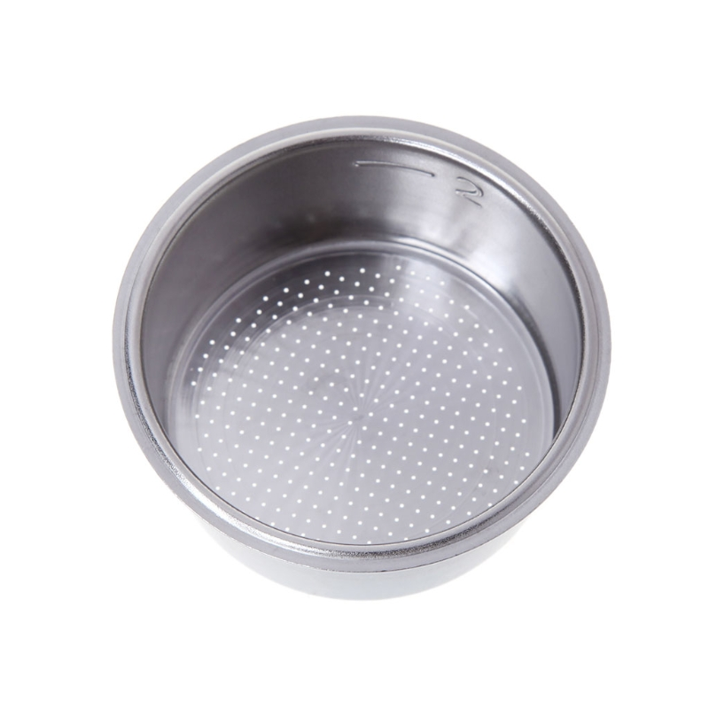 High Quality Coffee Tea Filter Basket Silver Stainless Steel Coffee Machine 2 Cup 51mm Non Pressurized Filter Basket
