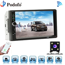 Podofo Car Radio Autoradio 7″ LCD Touch Screen Multimedia Player Audio Stereo Bluetooth Car Audio Support Rear View Camera 7018B