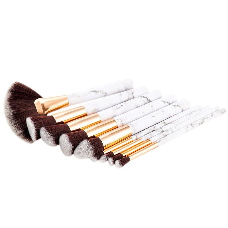 9pcs Marble Stripe Makeup Brushes Set Pro Cosmetic Brush Kits Eyeshadow Powder Foundation Blending Marbling Blusher Brush Tools #4