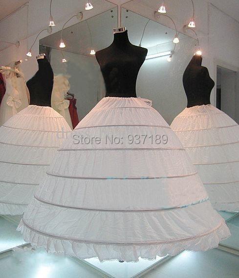 In Stock Plus Size Ball Gown 6 Hoops Wedding Bridal Petticoat Crinoline Underskirt Petticoats