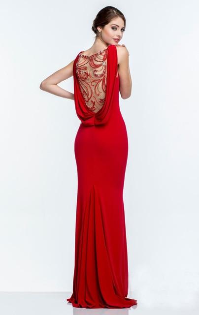 ccdc4e870caad5 Nieuwe Aanbieding Gedrapeerde Hals Zien Door Terug Moderne Lange Arabische  Avondjurken Gorgeous Ilhouettes Aksam Elbise Wit