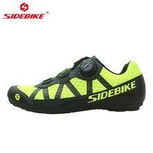 цена SIDEBIKE Breathable No-Lock Cycling Shoes Men Women Non-slip Road Mountain Bike MTB Shoes with Flat Rubber Sole EU Size 36-46 онлайн в 2017 году