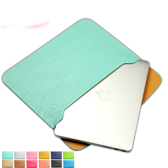 "Fashion PU Leather Notebook Sleeve Bag Protector Case for Mac book 11"" 12"" 13"" 14' 15"" Macbook Air Pro Laptop Carry Bag"
