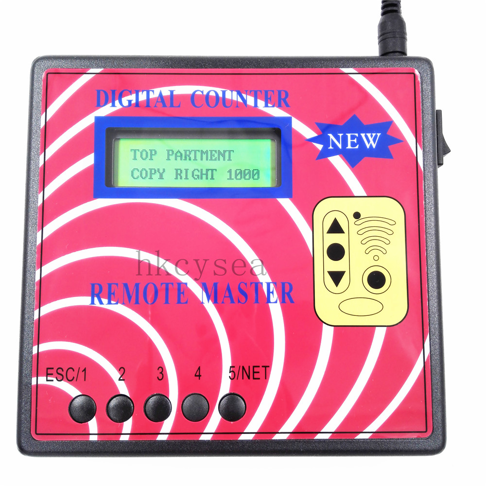 New Digital Counter Remote Master Key Programmer Frequency Meter Fixed Rolling Code Remote Copier With Green