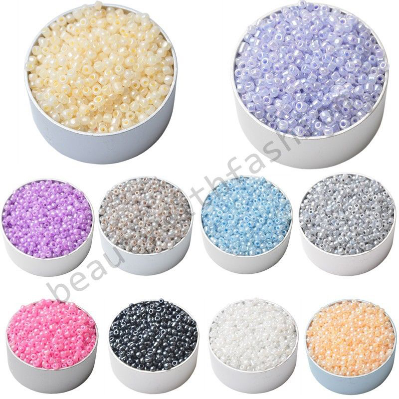Lnrrabc 3mm 1000pcs lot candy color diy handmade round for Natural seeds for jewelry making