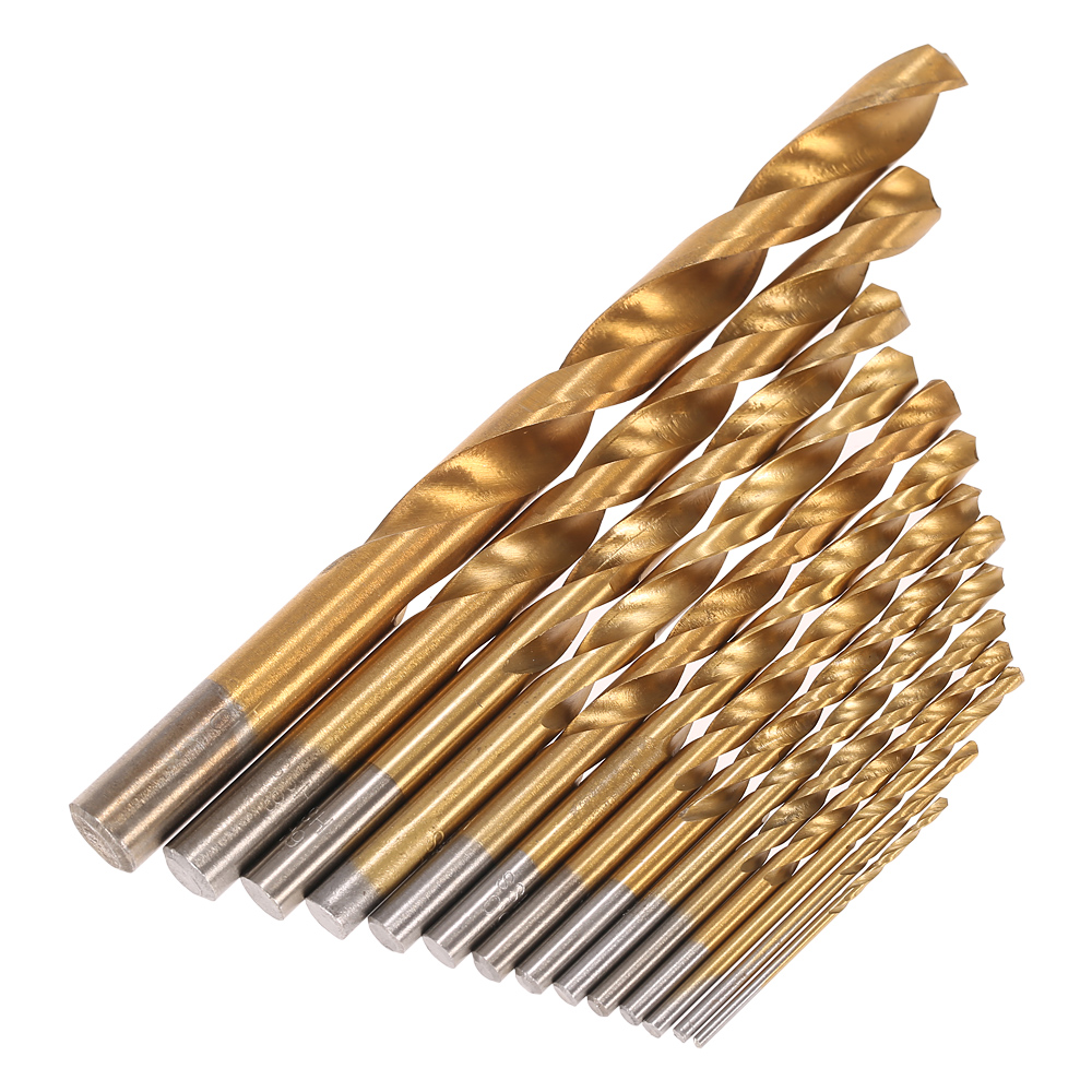 99pcs HSS Titanium Coated Twist Drill Bit Set 1.5-10mm Twist Drills Bits Kit ferramentas hand repair dremel tools with Case Box