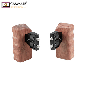 Image 4 - Camvate Dslr Houten Dual Handle Grip Met Connector Voor Dv Video Camera Kooi Steadycam Stabilizer Accessoires C1346