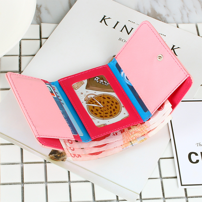BOTUSI Carton Girl Small Wallet Women Luxury Mini Women Wallets Purses Female Short Coin Purse Credit Card Holder New Arrival in Wallets from Luggage Bags