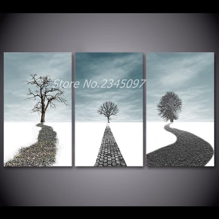 Artistico Sogno Path Wall Art 3 Pezzi Quadri Su Tela Per Soggiorno ...