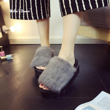 New 2016 Winter Slippers Women High Quality Warm Home Slippers Fashion Brand Platform Shoes Women Pantufa