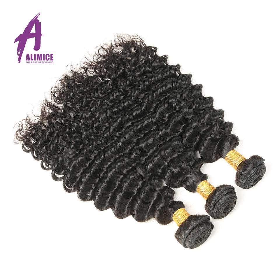 Alimice las brazilski las z globokimi valovi 1/3/4 snopi 100% remi - Človeški lasje (za črne) - Fotografija 2