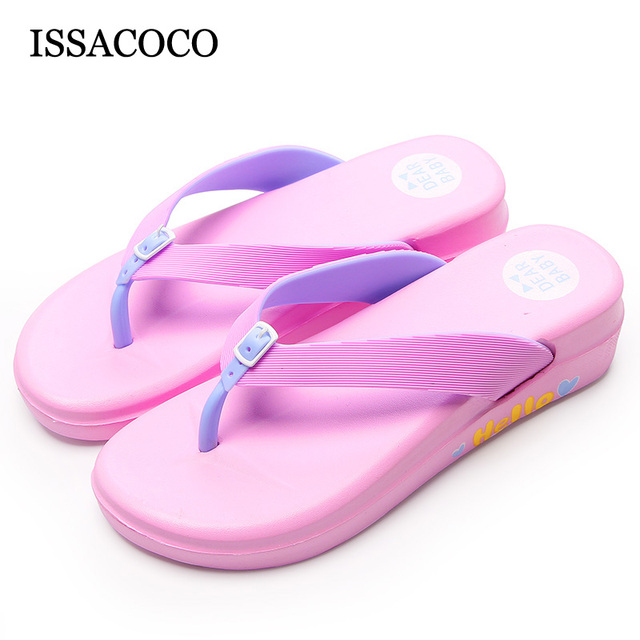 c7f27dc60e5ba ISSACOCO 692-1 Summer Women's Flip Flops Slippers Lightweight Soft Non-slip  EVA Bathroom Shoes Fashion Flat Home Slippers Women