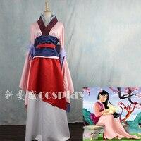 Таможенные анимации Косплей Мулан Костюмы Китайский классический в стиле ханьфу женский Cos Одежда