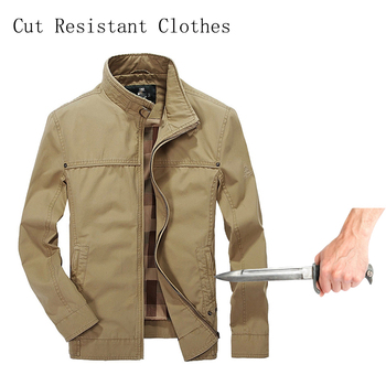 Self-Defense Stab-Resistant Cut-Proof jacket soft Stealth Swat Fbi Hacking Nintend Military Tactics Selfdefense Jacket 2019 New self defense anti cutting stab fashion casual jacket fbi military tactical invisible soft safety politie kleding tactico policia
