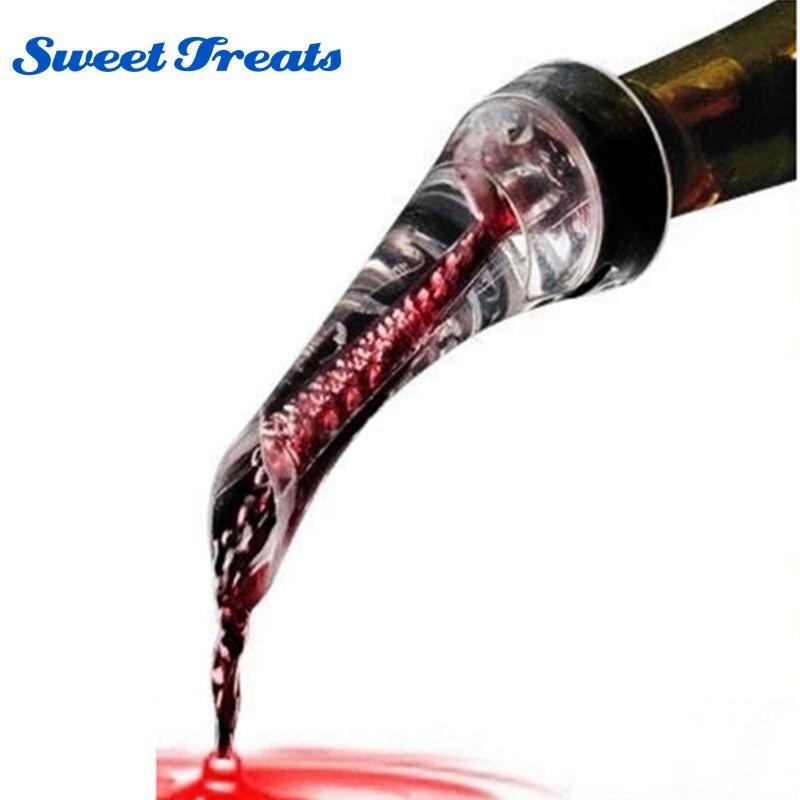 Sweettreats Rotwein Whisky Magie Belüfter Decanter Schnell Belüften Ausgießer Glas Rotwein Flasche Mini Reise Belüfter Heißer Drop