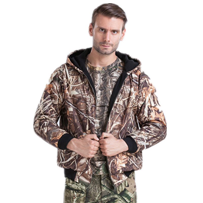 Winter Men Outdoor Reed Camouflage Hunting Jacket Thick Warm Hooded Casual Coat Ghillie Suits reed krakoff ботинки
