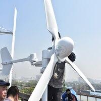 Новое поступление 5 кВт ветровой турбины свободный генератор энергии 220 В в 3 лезвия гидро генератор