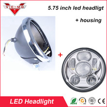 5 75 Motorcycle Headlight Accessories Harley Black Chrome Housing Bucket Wire Harness H4 LED Round Headlamp_220x220 popular harley wiring led buy cheap harley wiring led lots from Custom Auto Wire Harness H4 at gsmx.co