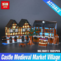 New 1601Pcs Lepin 16011 Genuine Castle Series The Medieval Manor Castle Set 10193 Building Blocks Bricks