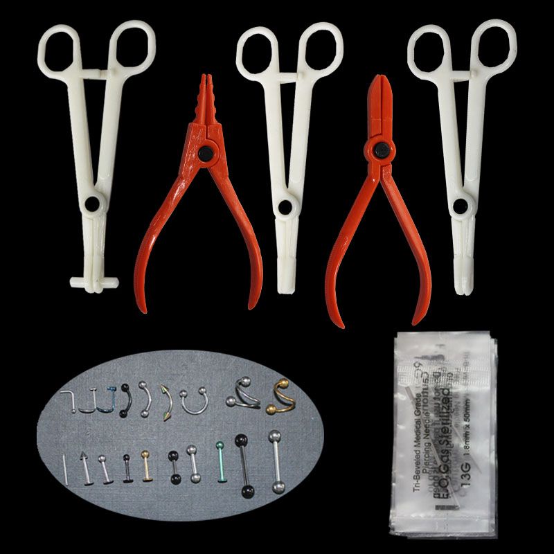 1Pcs Disposable Body Piercing Kit Tools Pliers Forceps -5058