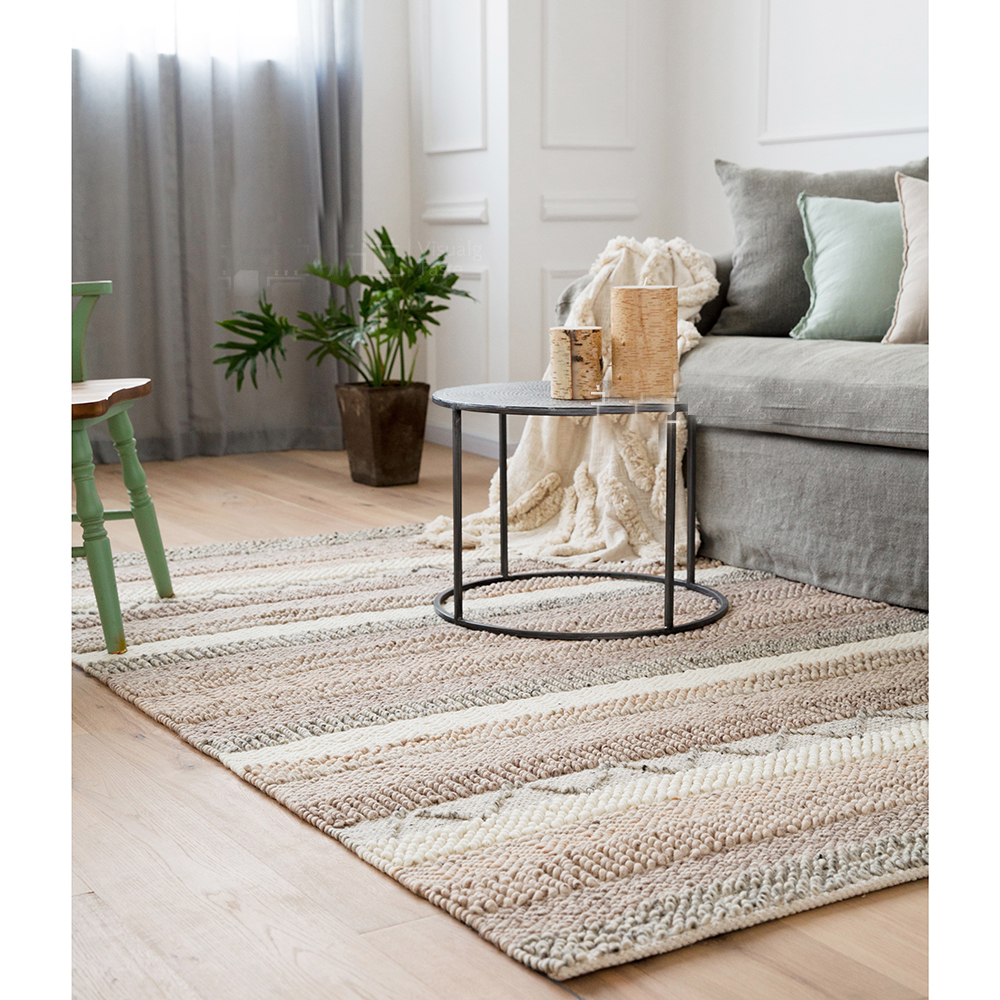kilim 100% wool handmade Carpet geometric Indian grey persian chic Rug  striped Modern contemporary design chic Nordic style-in Carpet from Home &  Garden on ...