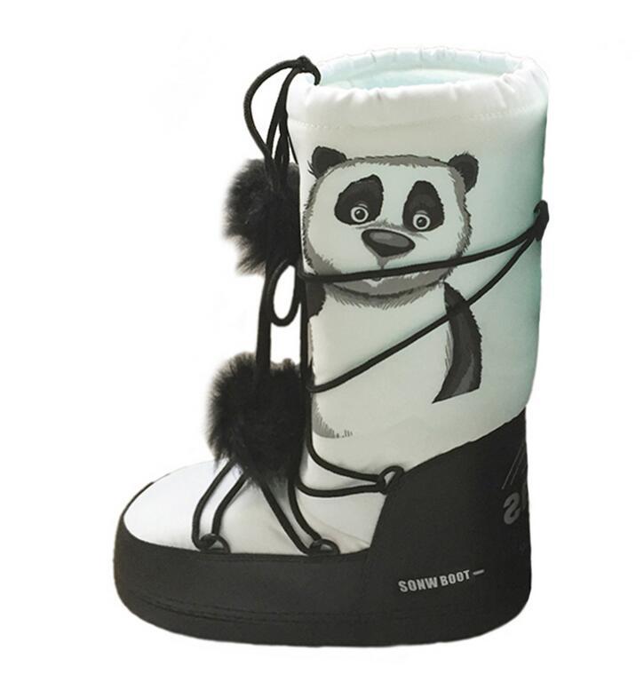 ФОТО 35-43 panda Christmas Boots snow plush Space boots snow boots tide boot ski shoes woman new fashion