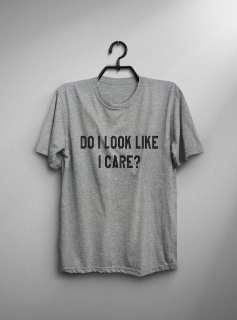 c157646e3 Do I look like I care sarcastic tshirt womens graphic tee for teens ...