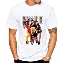 Spice Girls printed tshirt men cool casual t shirt mens fashion white camisetas hombre geek summer tops t-shirts homme women