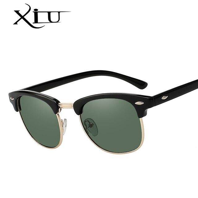 2989a1ad170 XIU Sunglasses Polarized Men Women Semi Rimless Sunglass Brand Design  Vintage Sun glasses for Women Top