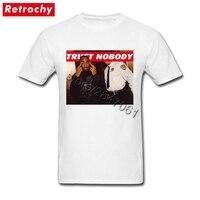 Футболка Rapper Tupac Shakur, 2Pac Trust Nobody, Мужская Винтажная футболка с круглым вырезом, скидка, брендовые футболки, плюс размер, бойфренд