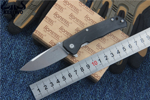 Folding pocket knife Lion-steel M390 blade G10+Titanium alloy handle utility outdoor camping knives survival tactical knife tool