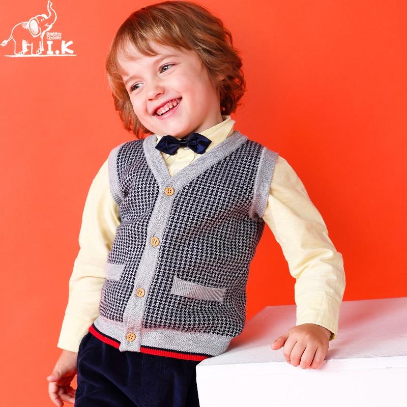 I.K 2018 nieuwe collectie Herfst Lente jongens grijs jacquard breien - Kinderkleding - Foto 4