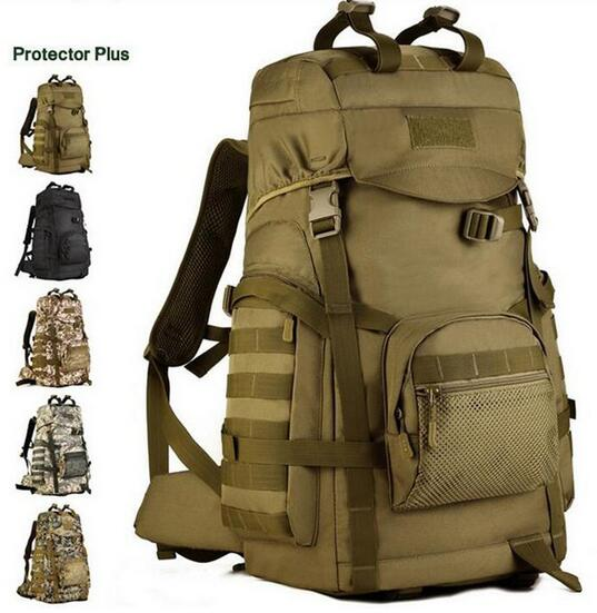 Protector Plus 60L Big Capacity Sports Waterproof Travel Hiking Backpacks Bag For Sport Camping Mochila Camping Tactical Backpac protector plus sports outdoor military molle tactical bag backpack for mochila camping travel hiking backpacks bags sporttas
