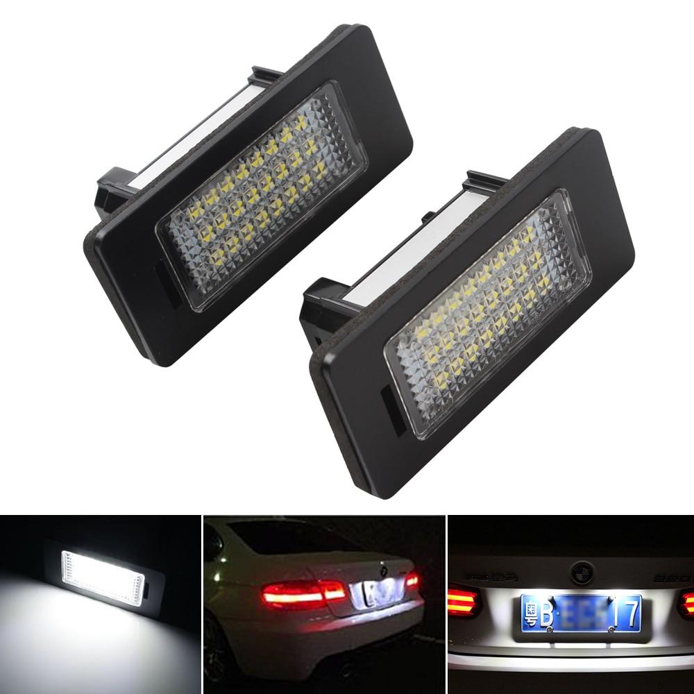 2 Stücke 3 Watt 24 Leds Kennzeichenbeleuchtung Für Bmw Auto Styling Pure White Led Auto Lichter Kennzeichenbeleuchtung Einfach Zu Installieren Hohe Belastbarkeit