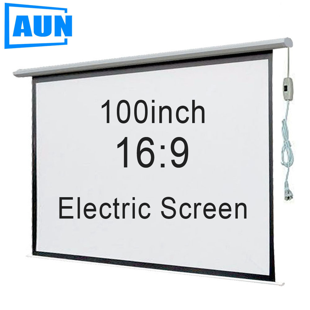 Buy aun 100 inch 16 9 motorized screen for Motorized projector screen reviews