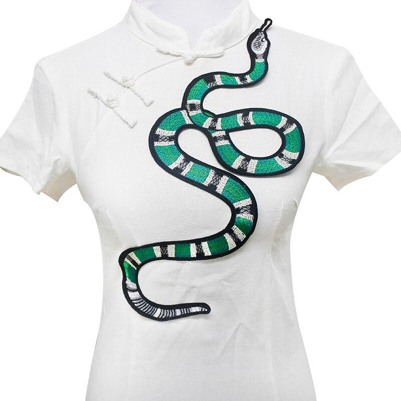 Patrón de la serpiente verde applique Bordado parche coser en ...