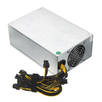 6pin 10 1600W ATX Power Supply For ETH S7 S9 For L3 High Quality Mining Machine