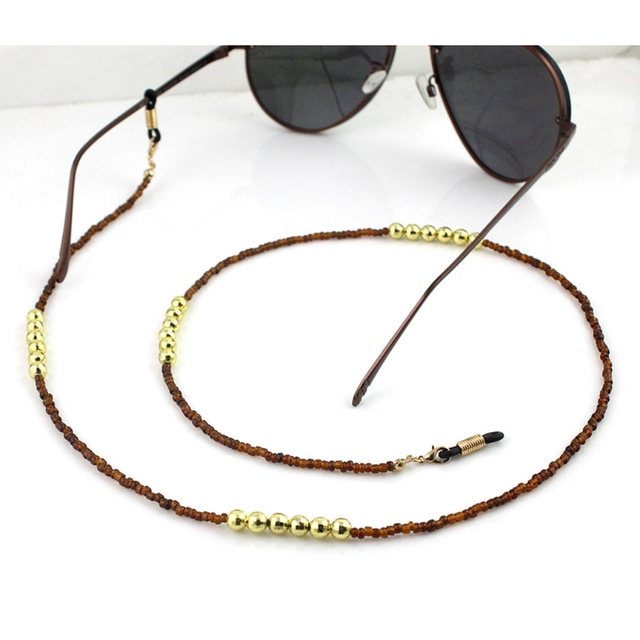 f8bc7ff059 Reading Glasses Chain Beads Sunglasses Holder Neck Strap Eyewear Sports  Rope Eyewear Accessories Lanyards New
