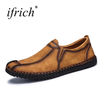 Mens Leather Shoes Black Brown Mens Boat Shoes Slip On Suede Shoes Fashionable Mens Sneakers Big