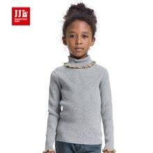 Девушки вязаный свитер девочек пуловеры дети зима bottomming рубашки сладкий цветок рукав 2015 новый