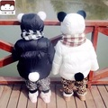 winter meisjes kleding Winter Children Panda Feather Padded Thick Jacket Suits Bread children's jackets parka bebe pluma