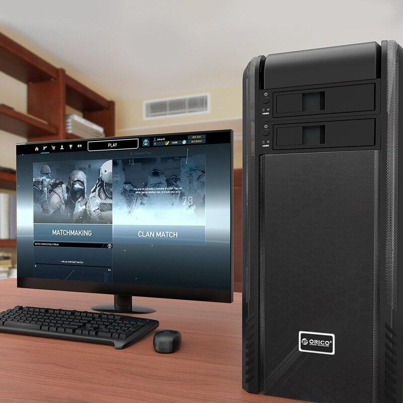 3,5 pulgadas SATA HDD marco bastidor móvil caso HDD interno CD-ROM ...
