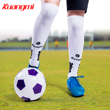 Kuangmi 1 Pair Adult Soccer Socks Professional Club Football high Thick Knee Sports Training