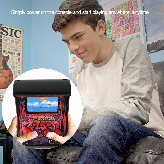 best gift for kids Portable Handheld Gaming Console with 200 Classic Game Mini Arcade Games Retro Tiny Video Game Arcade Cabinet